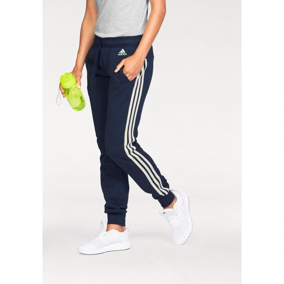Jogging adidas Performance Essential 3S pant cuffed femme - Multicolore Adidas  Performance Femme 8bf71ad238c