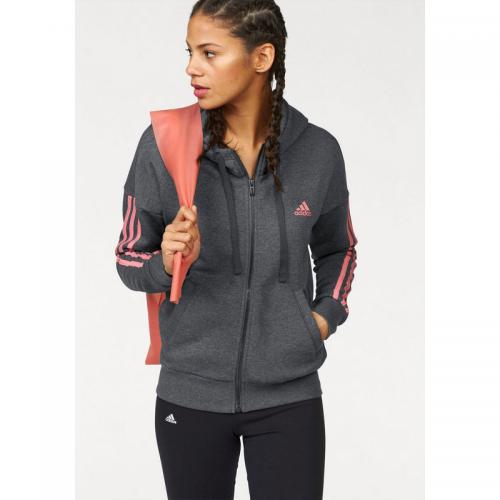 e3ff663949 Adidas Performance - Sweat-shirt capuche femme Essentials 3 Stripes Fullzip  Hoodie adidas Performance -