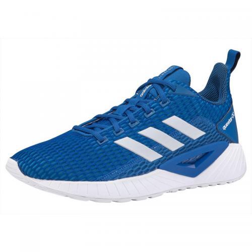 9723a094f6 Adidas - Baskettes homme Questar CC par Adidas - Bleu - Blanc - Adidas