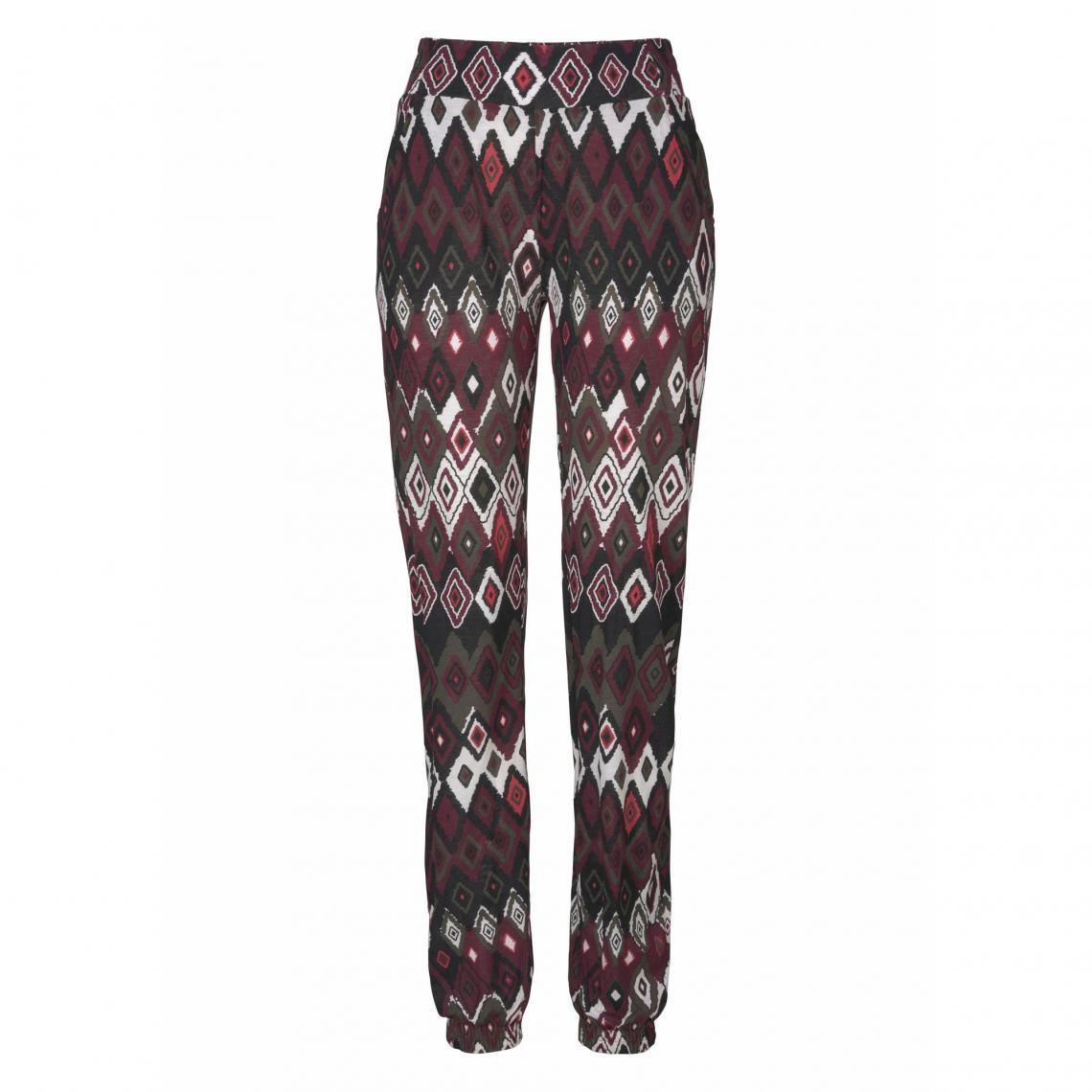 Élastiquée Taille Ethnique Pantalon Ajc Femme Imprimé Multicolore 6yYbf7gIv