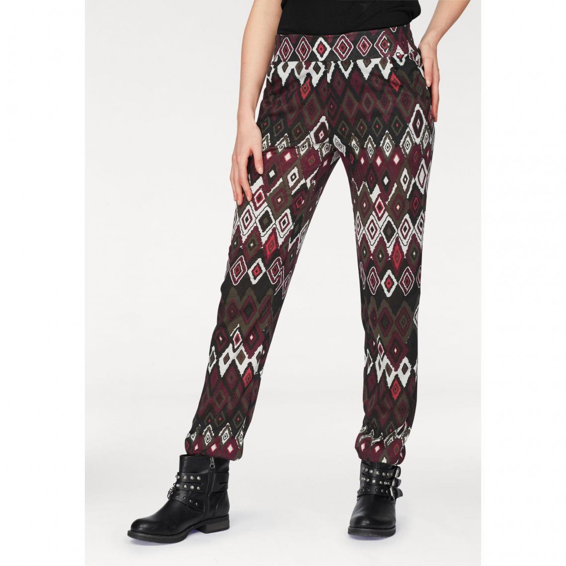 05ecd87a0366 Pantalon imprimé ethnique taille élastiquée femme AJC - Multicolore AJC  Femme