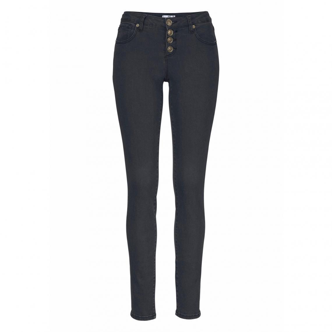 3b8122033ea2a Pantalon skinny coton stretch femme AJC - Noir   3 SUISSES