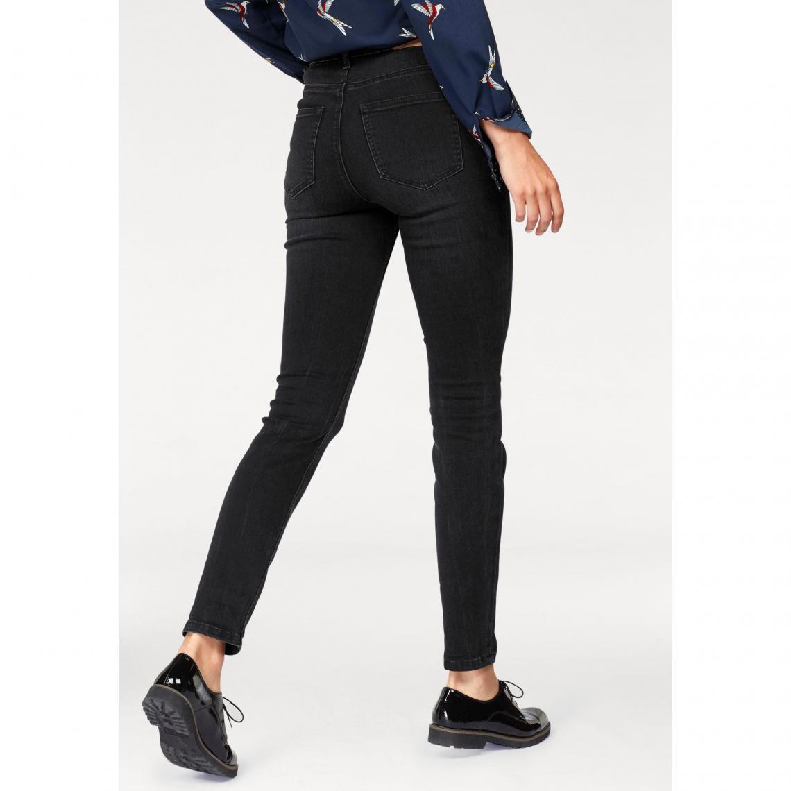 c71ce9a1f84c48 Jean skinny taille haute femme AJC - Noir | 3 SUISSES