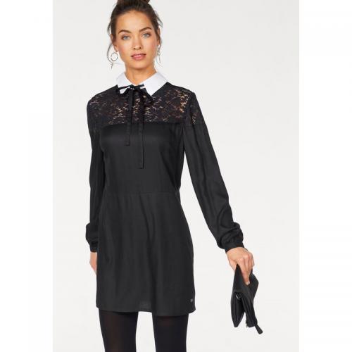 150633e3923 AJC - Robe brodée ajourée col blanc et noeud femme AJC - Noir - Robes de