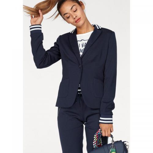 Veste courte blazer bleu marine