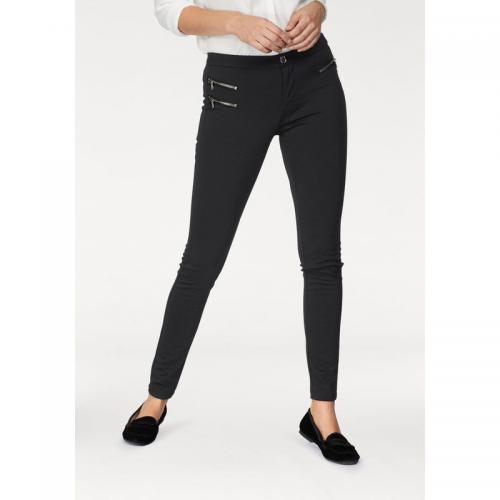 c11528fa7d474 AJC - Pantalon skinny 7/8e zip chevilles femme AJC - Noir - AJC