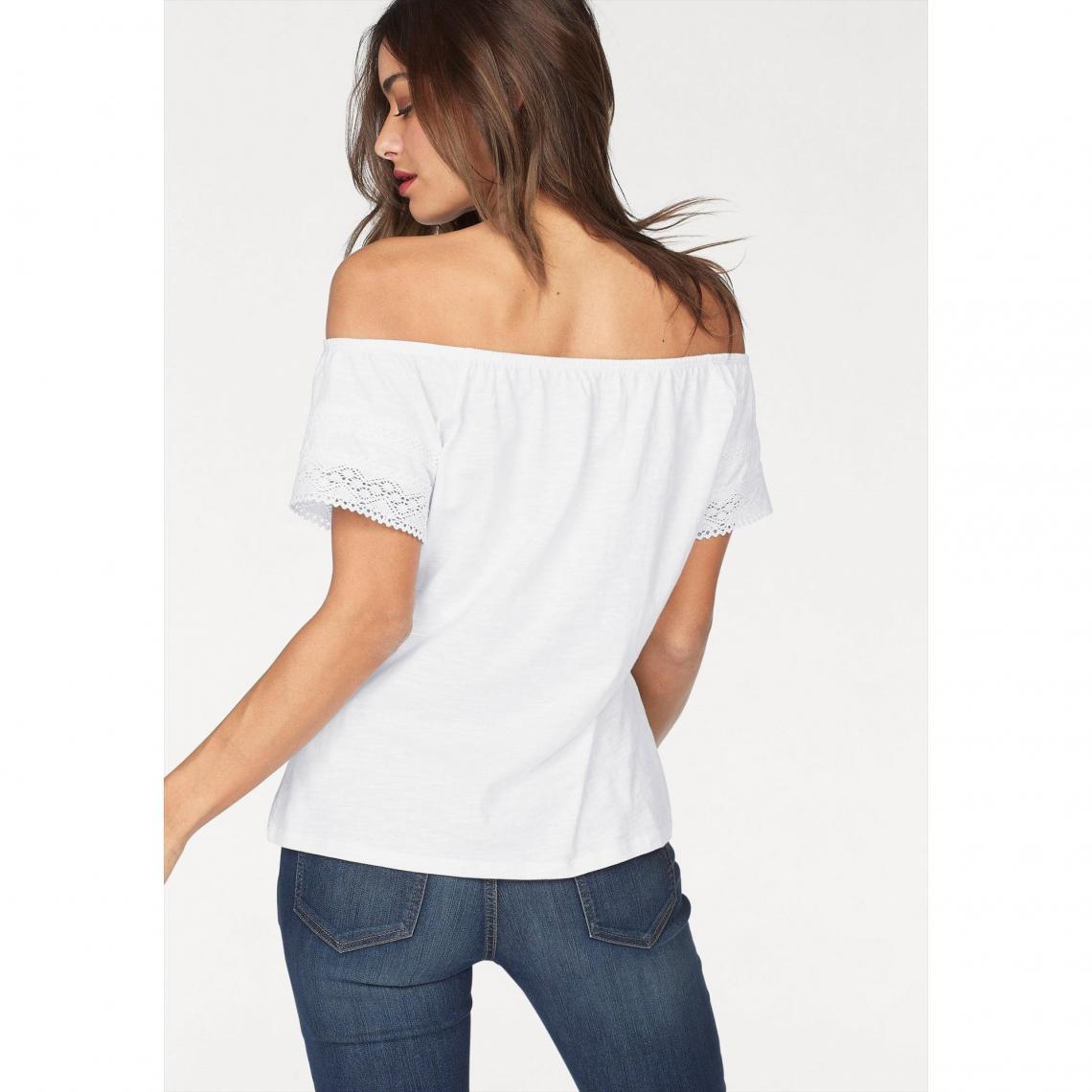 a3224bd63f6d Tee-shirt épaules dénudées femme AJC - Blanc