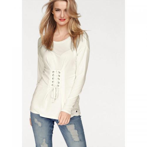 509cc7a499cdf AJC - Chemise corsage femme AJC - Beige - T-shirts manches longues femme
