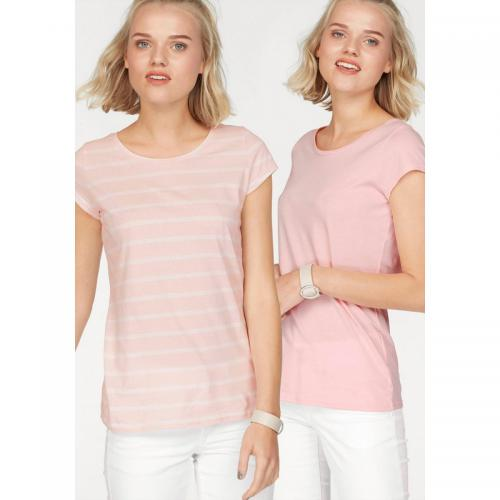 AJC - Lot de 2 Tee-shirt femme AJC - Rose - La mode Rose