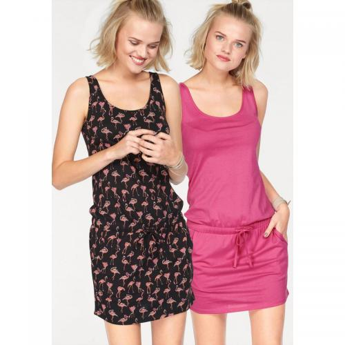 AJC - Lot de 2 robes femme AJC - Rose - Imprimé - Robe Rose