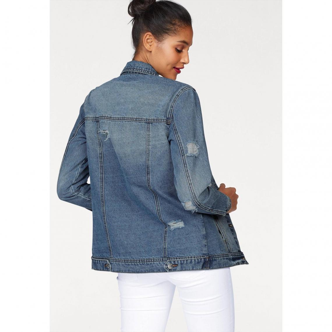 Oversize Femme 3suisses Ajc Jean Used Blue Veste w45cqECRx