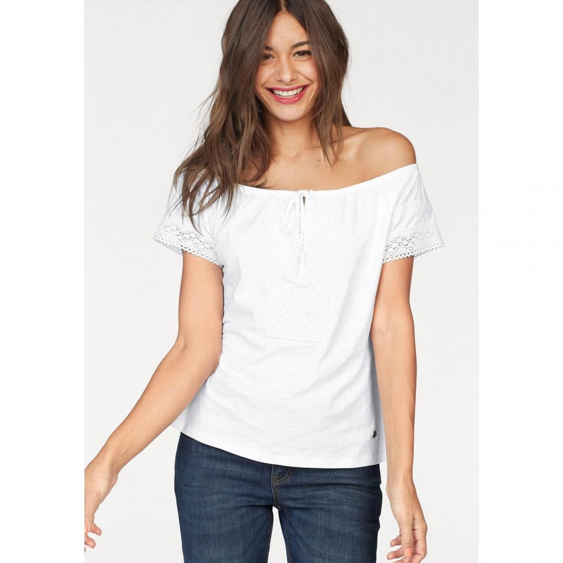 618c8decbf Tee-shirt épaules dénudées femme AJC - Blanc | 3 SUISSES