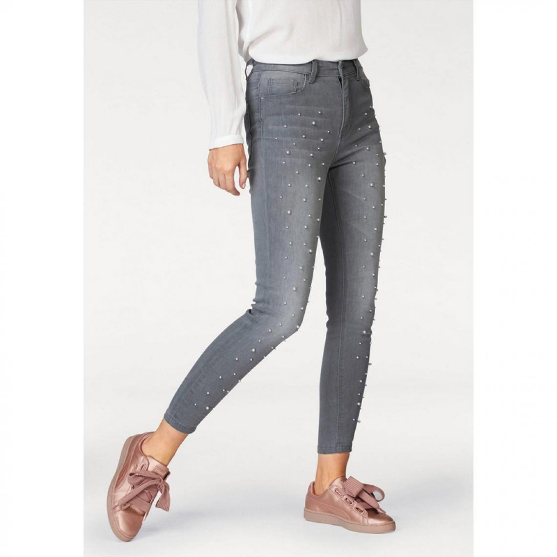 68e20c3cea Jean skinny taille haute Femme AJC - Gris | 3 SUISSES