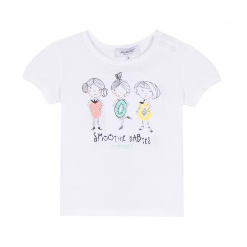 Alphabet - Tee-shirt manches courtes bébé fille Alphabet - Blanc - Vêtements  enfants Moins ceee1deb789