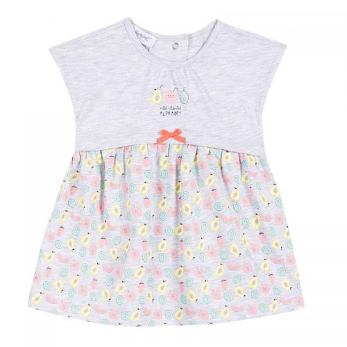 39cda3763e6f5 Alphabet - Robe courte bébé fille Alphabet - Gris Chiné Clair - Vêtement