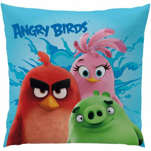 Coussin carré Angry Birds Explosion - Bleu