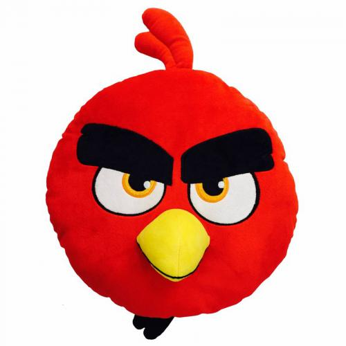 Angry Birds - Coussin Angry Birds Red tête 3D - Rouge - Linge de maison