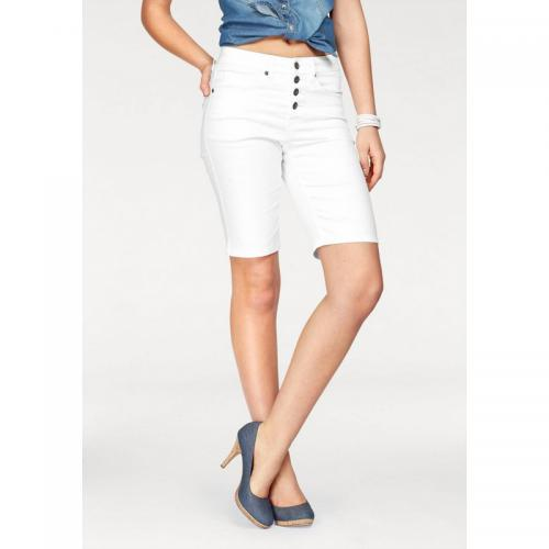 3cb975ae6e1 Arizona - Bermuda femme Arizona - Blanc - Shorts