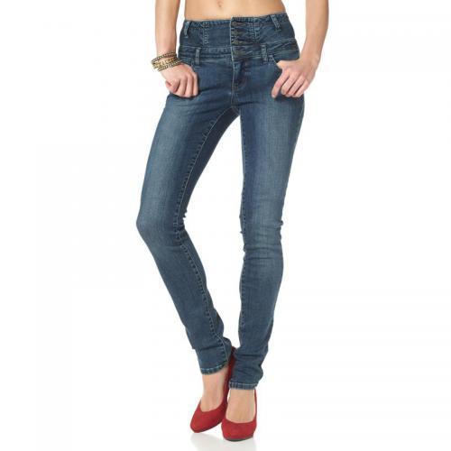 93215710c696 Arizona - Jean slim taille haute Arizona - Bleu - Jeans taille haute femme