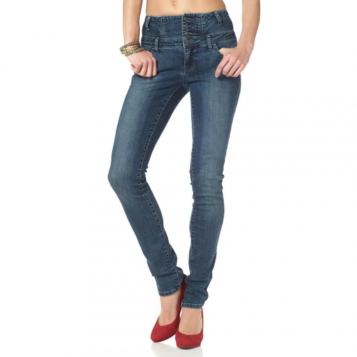 7097deef34a0 Jean slim taille haute Arizona - Bleu Arizona Femme