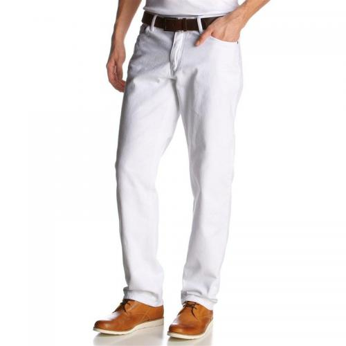 Arizona - Jean droit denim homme Arizona - Blanc - Jean