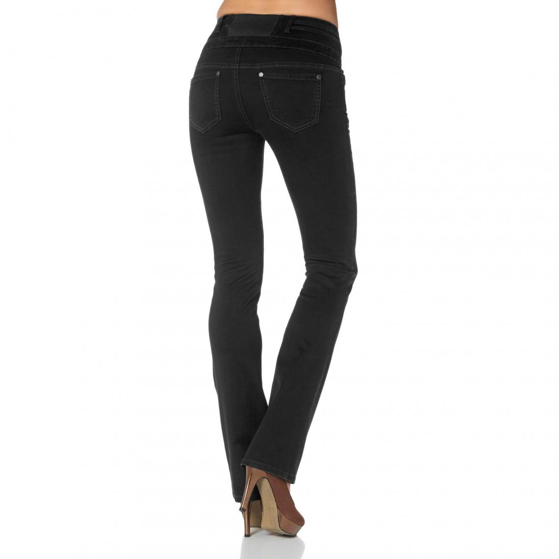 2fdc121d8f352 Jean bootcut taille haute stretch femme Arizona - Noir Arizona Femme