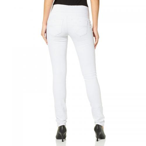 Arizona - Jegging slim denim femme Arizona - Blanc - Jean droit