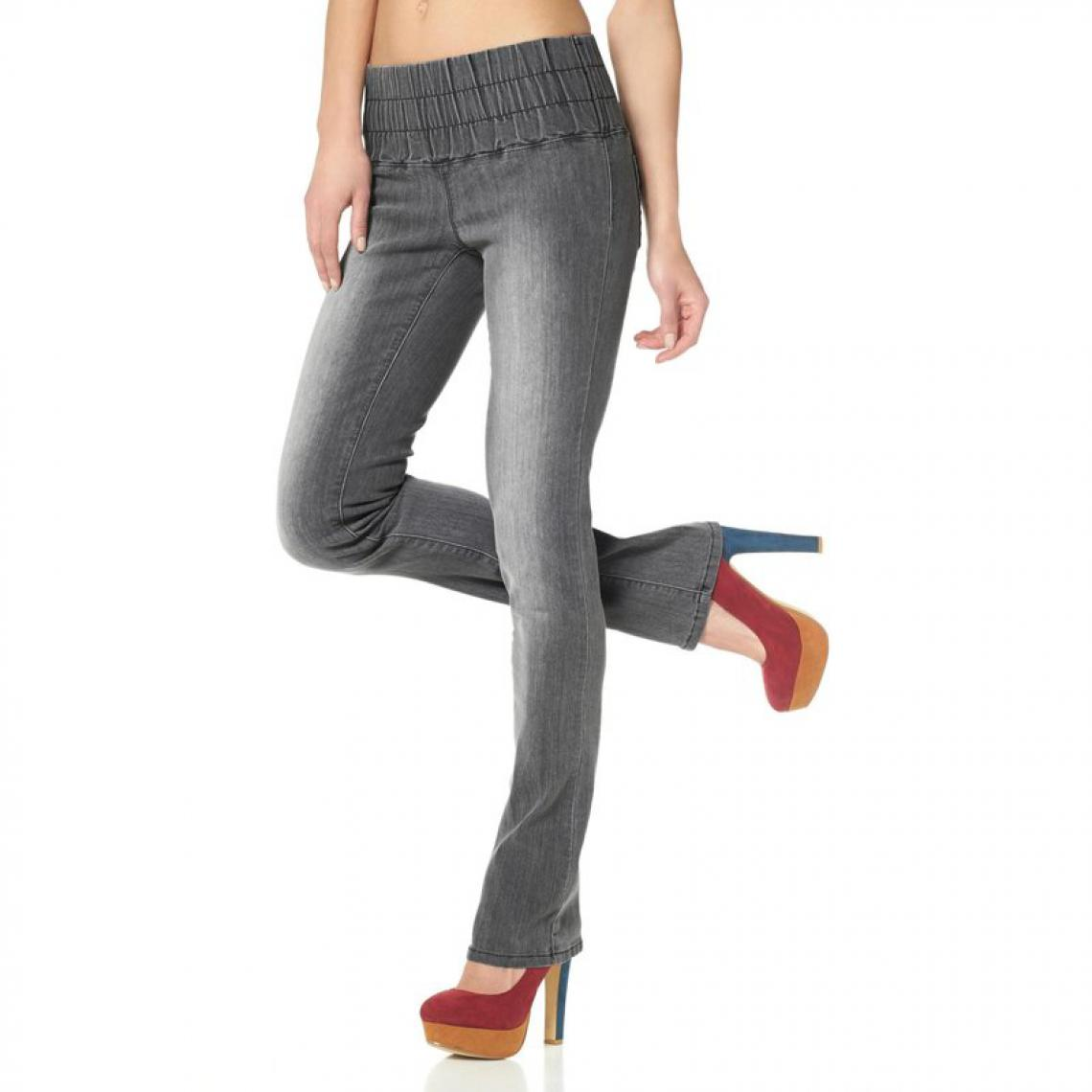 18c7b89b8091 Jegging slim denim femme Arizona - Gris Jeans