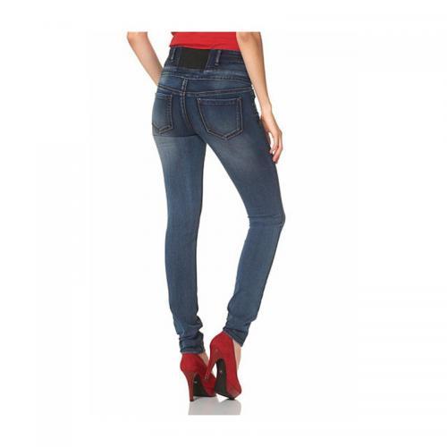 3b4a499991c6 Arizona - Jean slim taille haute femme Arizona - Bleu - Jeans taille haute  femme