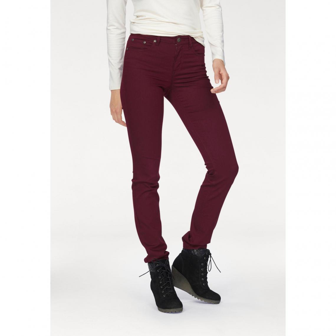 Jean slim taille haute Arizona - Bordeaux Arizona Femme fd45b37fd060