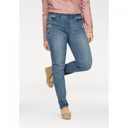 Arizona - Jean slim brodé femme Arizona - Bleu - Jean droit