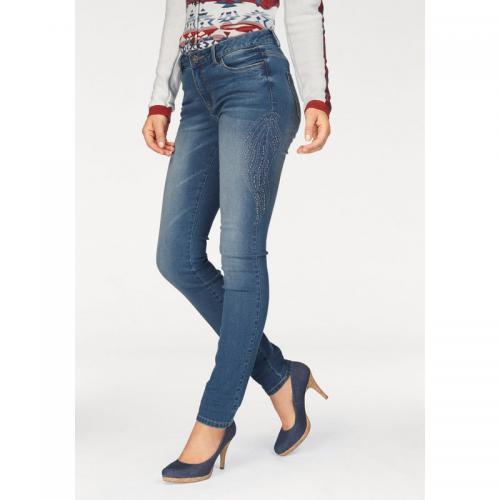 6da12c50673c Arizona - Jean taille haute clous fantaisie femme Arizona - Bleu - Jeans  taille haute femme