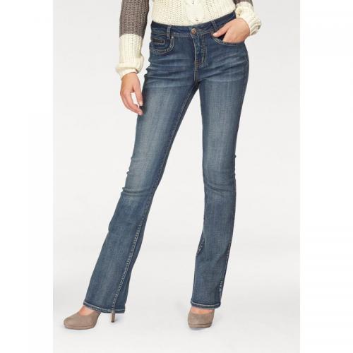 Arizona - Jean bootcut taille basse femme Arizona - Bleu - Jeans femme ab3ce3f44b6