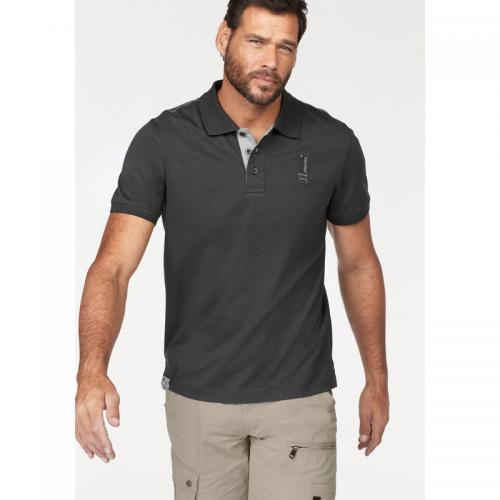 Arizona - Polo manches courtes maille piquée homme Arizona - Gris Anthracite - T-shirt / Polo