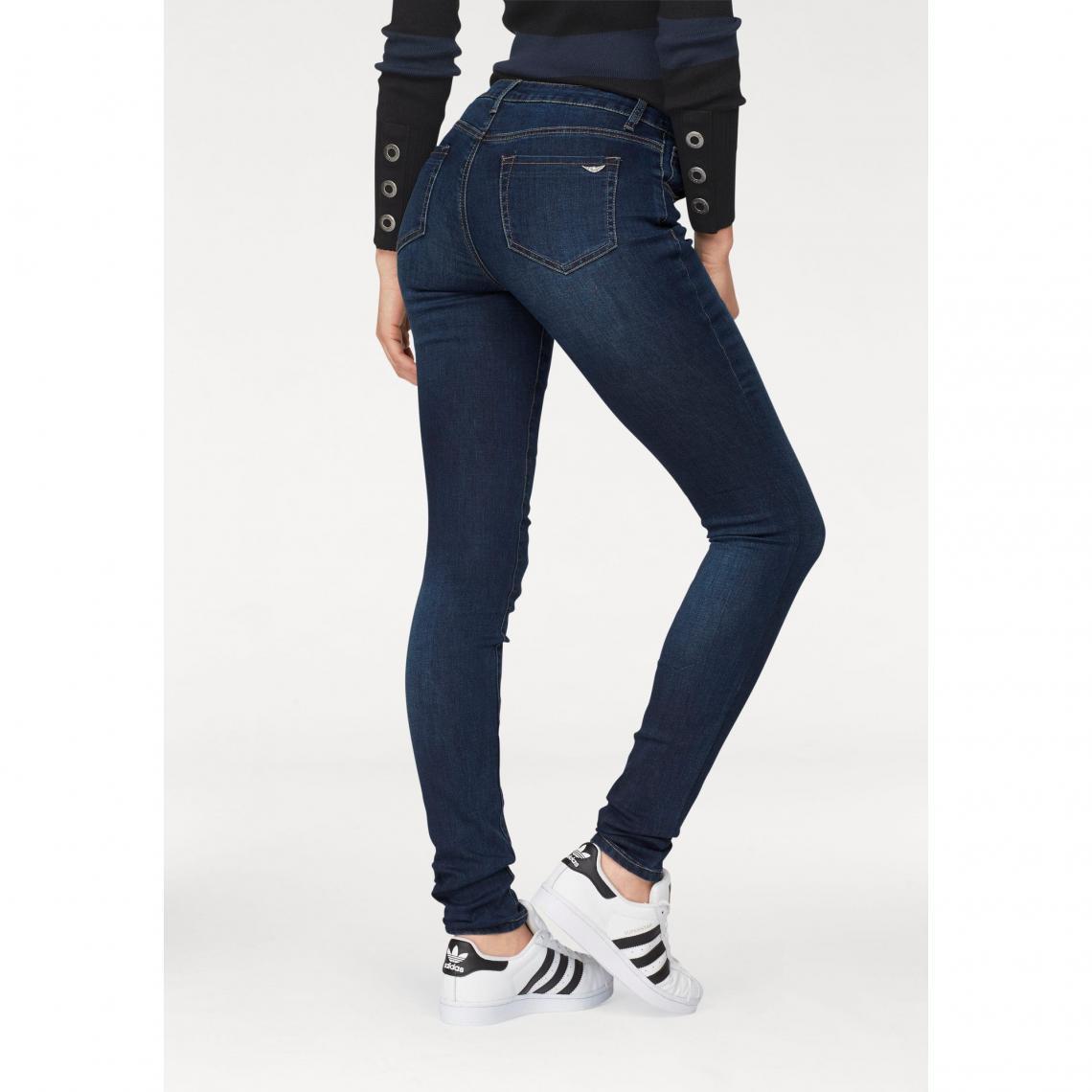 b098317efe67 Pantalon skinny mid waist femme Arizona - Bleu Foncé Used
