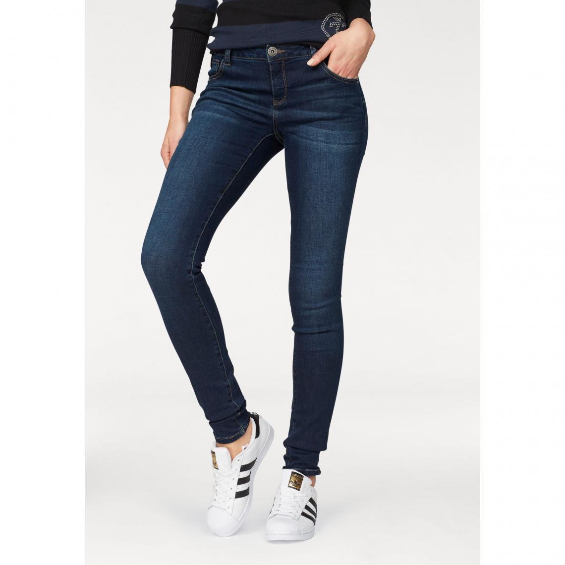 d931178c24ad Pantalon skinny mid waist femme Arizona - Bleu Foncé Used Arizona Femme