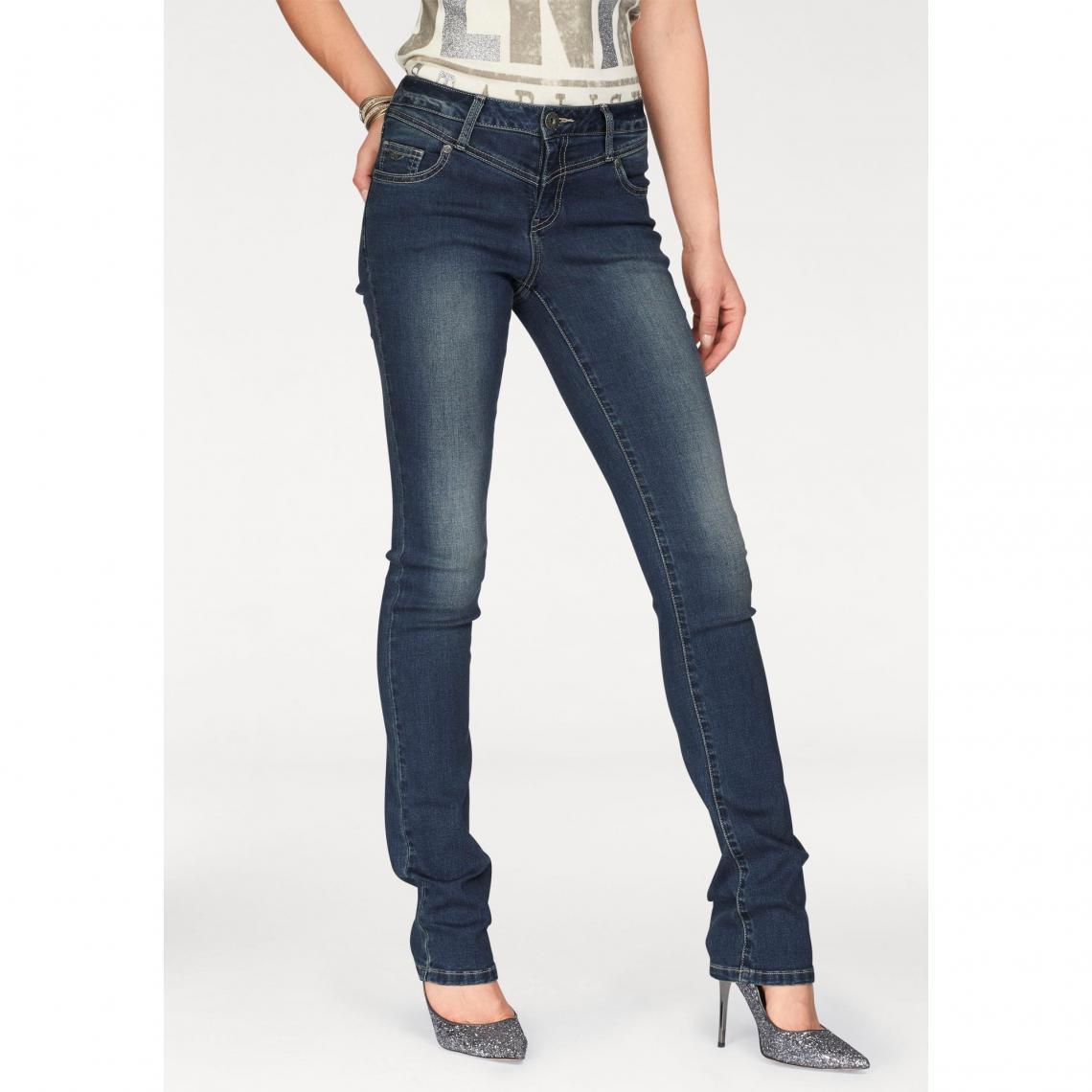 9eb653a7ef60d Jean droit femme Arizona - Bleu Foncé Used Arizona Femme