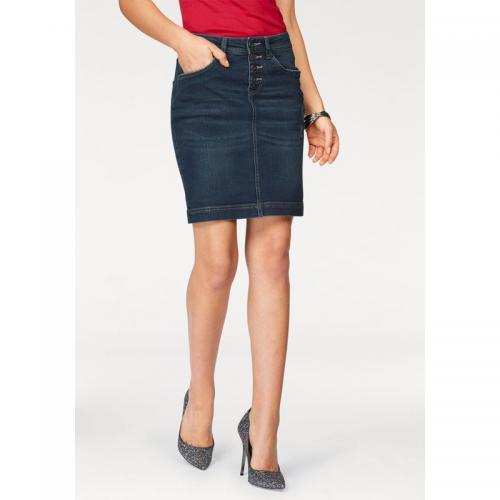 Arizona - Jupe jean fermeture boutons apparents femme Arizona - Bleu Foncé  Used - Jupes femme 5d4b0cf44259