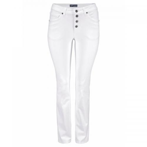 Arizona - Jean bootcut fermeture boutons apparents femme Arizona - Blanc - Jean et denim