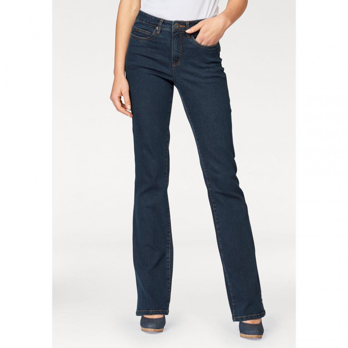 b1a2c74bd475 Jean bootcut taille haute extra confort femme Arizona - bleu foncé Arizona  Femme