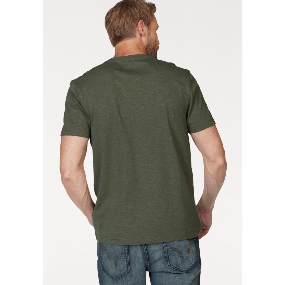 eba89ad97177 T-shirt col tunisien manches courtes homme Arizona - Vert Olive