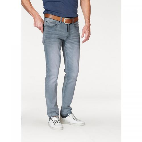 Arizona - Jean slim-fit Clint 5 poches stretch L32 homme Arizona - Gris Clair Used - Jean