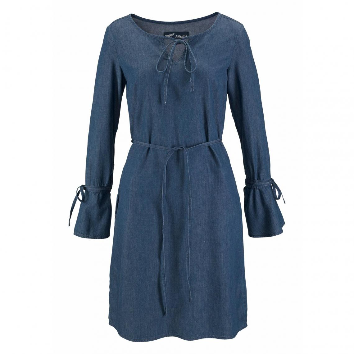 fb1c2da9abeb2 Robe manches longues en denim femme Arizona - bleu foncé Arizona