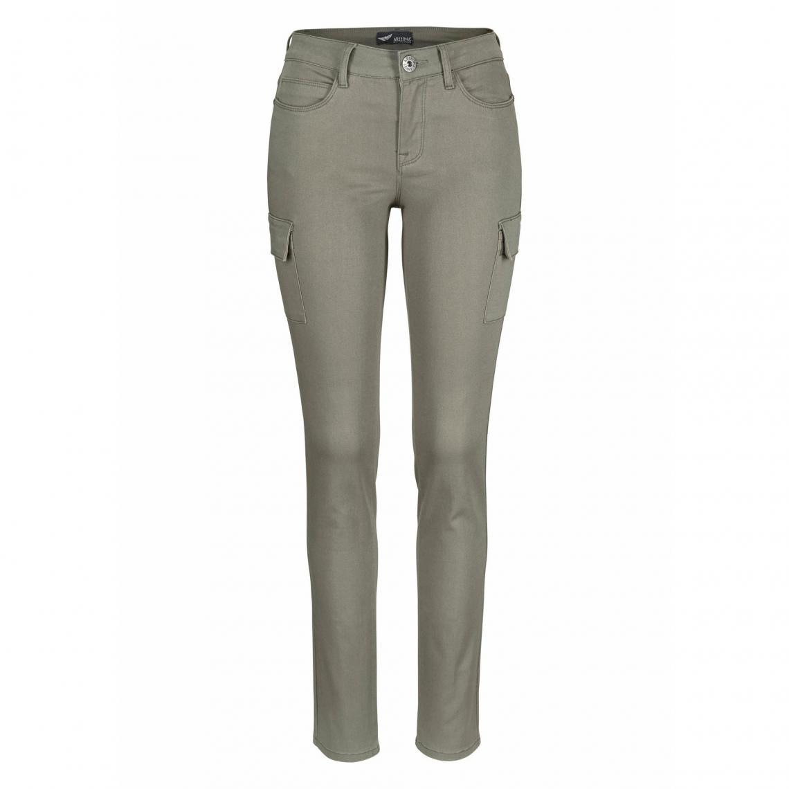 d2de4850378939 Jean skinny style cargo en twill coton/stretch femme Arizona ...