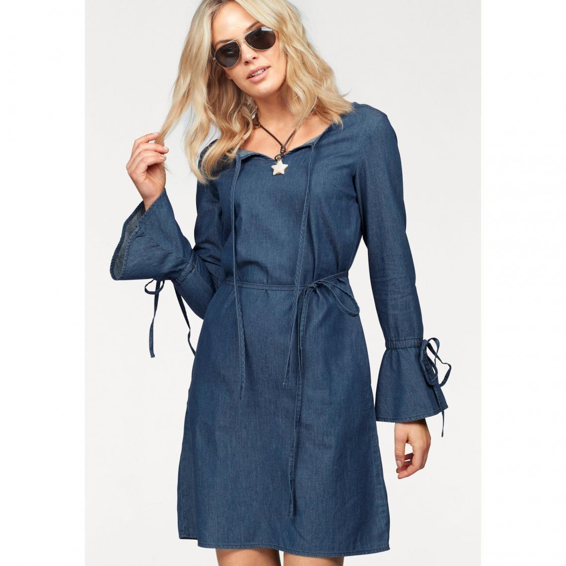 accb883461944 Robe manches longues en denim femme Arizona - bleu foncé Arizona Femme