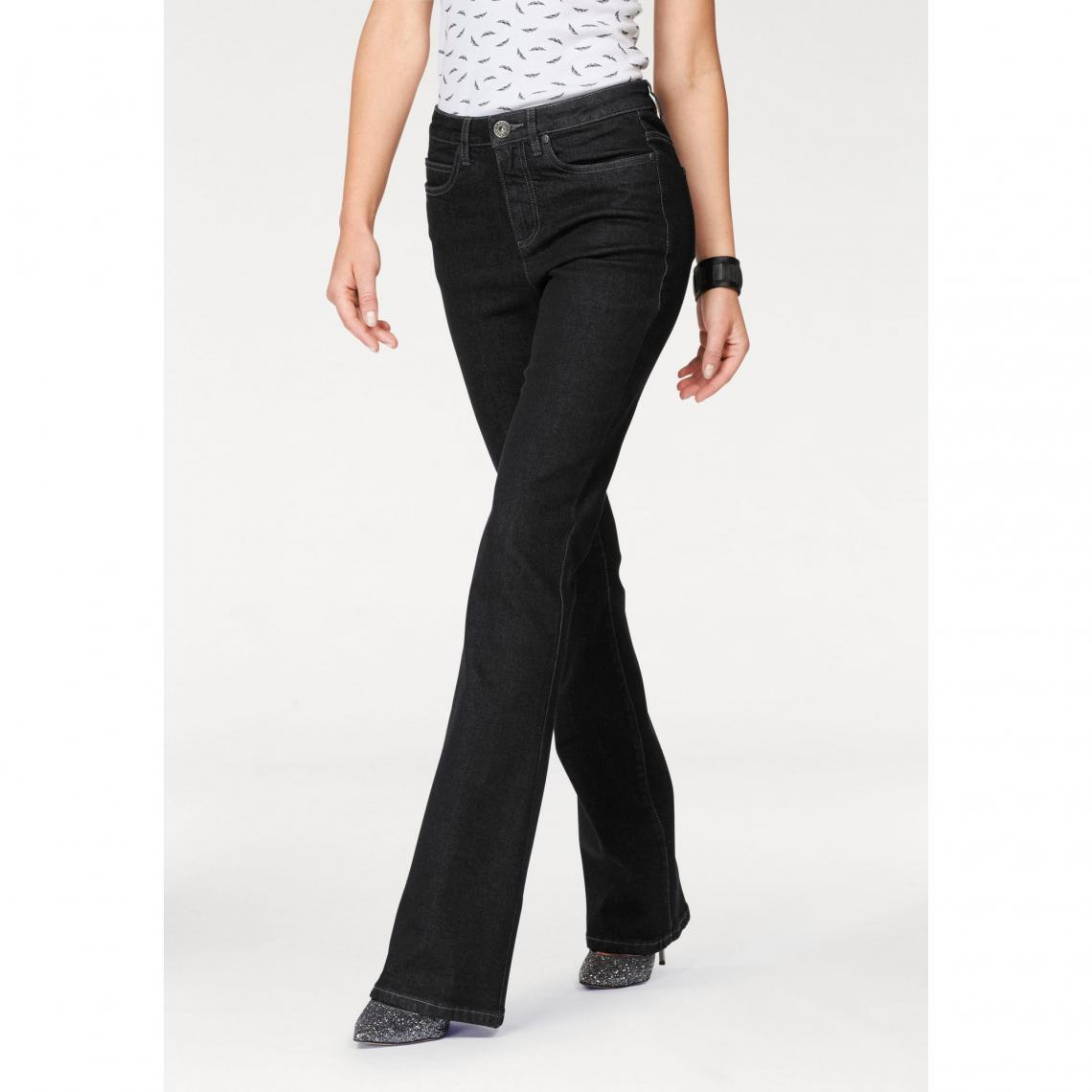 64ac61211941 Jean bootcut taille haute extra confort femme Arizona - Noir Arizona Femme