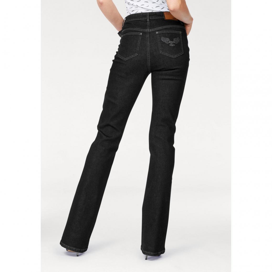 Arizona Extra Bootcut Noir 3suisses Confort Taille Haute Femme Jean nqgxwZYBn