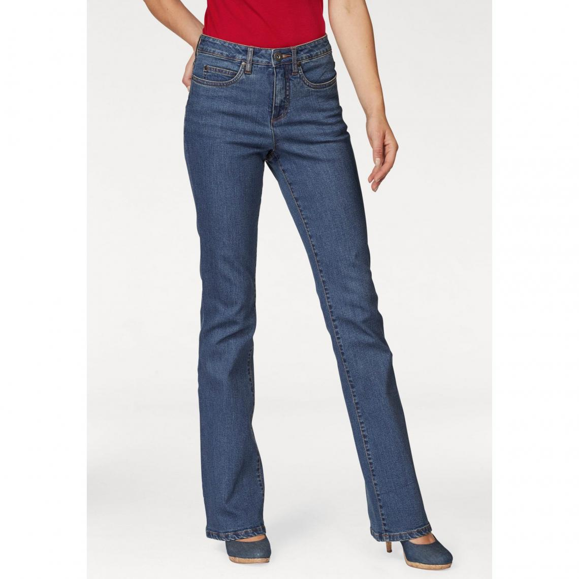 795e3956d0cf4 Jean bootcut taille haute extra confort femme Arizona - Bleu Stone Arizona  Femme