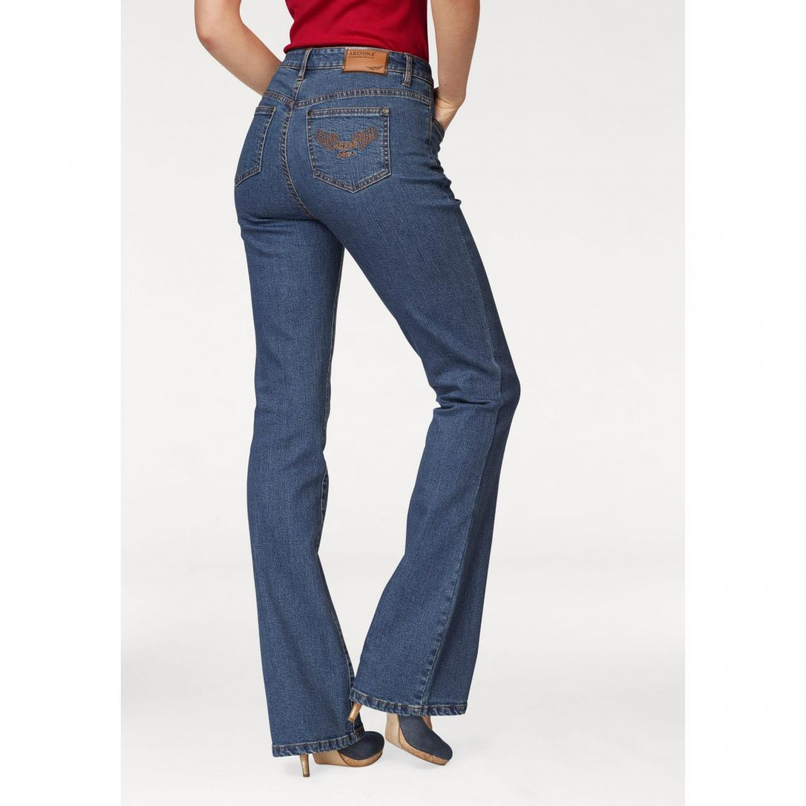 5ed9a672af1f Jean bootcut taille haute extra confort femme Arizona - Bleu Stone ...