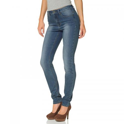 Arizona - Jean 5 poches Arizona « Slimfit taille confort » - Bleu Used - C 6254372 promos jeans pantalons femme.htm
